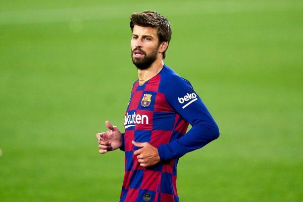 Barcelona defender Gerard Pique has questione